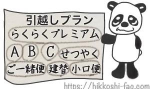 パンダが8つのプラン内容を紹介しています。