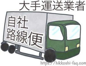 自社の路線便を持っている大手運送業者のトラックです。