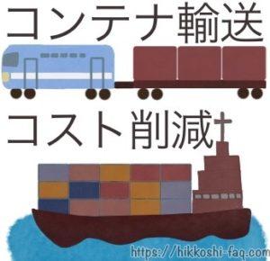 鉄道コンテナとコンテナ船のイラストです。