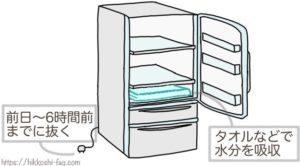 冷蔵庫の荷造り