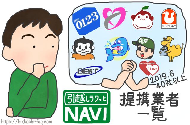 引越しラクっとNAVIの提携業者一覧を眺めている人です。