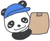 サカイ引越センターのパンダが荷物を運ぶイメージです。