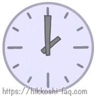 時計のイラストです。2時を指しています。