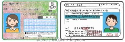 マイナンバーカード、免許証