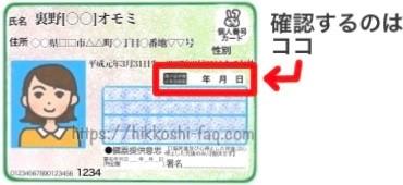 マイナンバーカードの電子証明書の有効期限を囲ったイラストです。