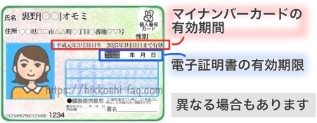 マイナンバーカードの有効期間と電子証明書の有効期限
