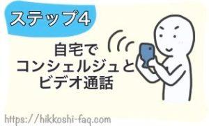 ステップ4自宅でコンシェルジュとビデオ通話